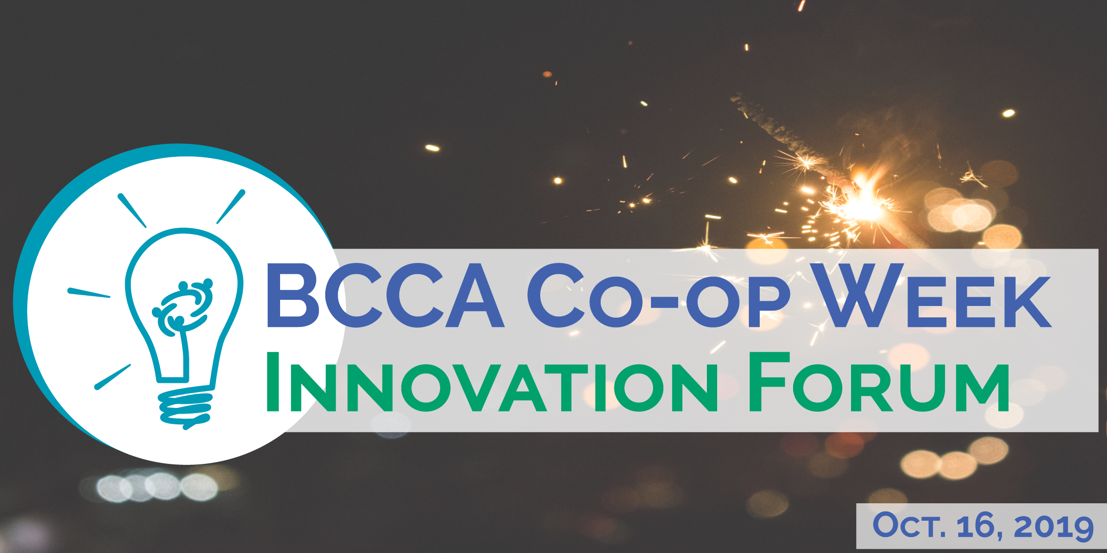 BCCA 2019 Co-op Week Forum event header image with event date Oct 16 2019