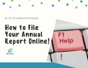 BCCA Guide - Filing your annual report online